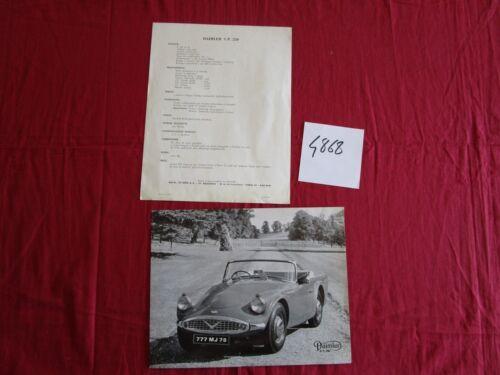 N° 4868 prospectus en français automobile DAIMLER cabriolet S.P.250