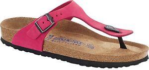 Details zu Birkenstock Gizeh pink Nubukleder Gr. 36 42 Fußbett schmal & normal Weichbettung