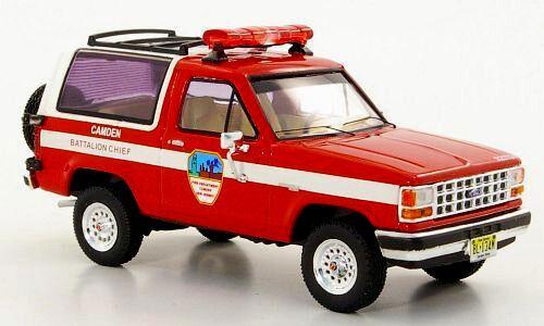 Maravilloso DIECAST MODELCAR Ford Bronco 1989 Camden Camden Camden batallón jefe-Rojo - 1 43 07de59
