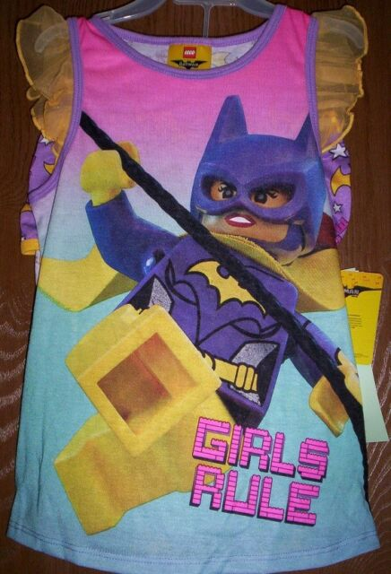 Barman Batgirl Girls Tank Sleep Top and Shorts 2 Piece Pajama Set