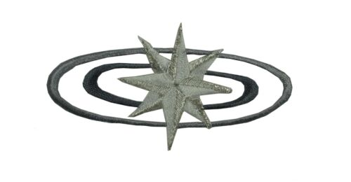 Grey,Brown,Yellow Galaxy w//Star Embroidery Iron On Applique Patch