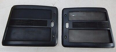 1990-1993 Ford Mustang Convertible Black Rear Quarter Panel Speaker Grill Covers