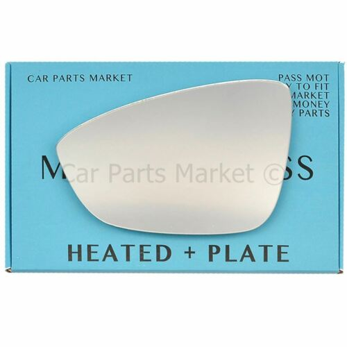 plate For Volkswagen Passat 10-14 Left side Flat Electric wing mirror glass
