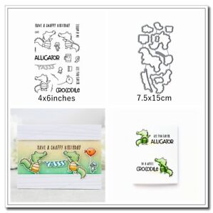 Crocodile-Animals-Metal-Cutting-Dies-amp-Stamp-Handcrafts-Stencil-Paper-card-Making