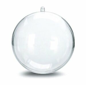 4 Quot 100mm Acrylic Globe Clear Plastic Round Sphere Fillable