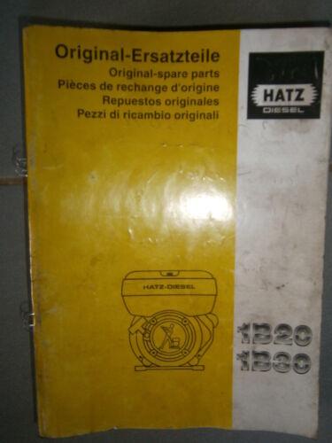 HATZ moteur diesel 1B 20-1B 30 catalogue de pièces