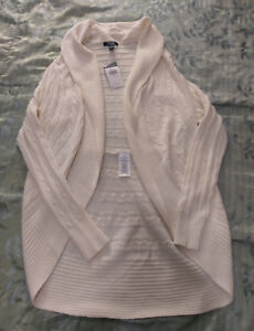 Sweater Nwt 190232495030 Ralph Open Small Shawl Womens Chaps Knit Ivory Winter Cardigan Cable xYqTPvv7Fw