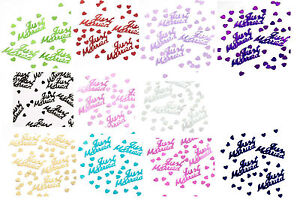 JUST-MARRIED-14g-FOIL-CONFETTI-TABLE-SCATTER-WEDDING-DECORATIONS-11-COLOURS-pa