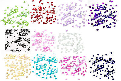 JUST MARRIED 14g FOIL CONFETTI TABLE SCATTER WEDDING DECORATIONS 11 COLOURS (pa)