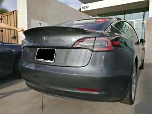 2017-2020 for Tesla Model 3 IKON Style Trunk Spoiler Lip 100/% Real Carbon Fiber