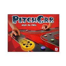 PitchCar Complete Race Car Dexterity Board Game w/ 8 Disc Cars 16 Circuit Pieces
