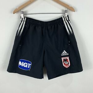 St-George-Illawara-Shorts-Mens-Small-Adidas-Embroidered-Elastic-Waist-Rugby-NRL