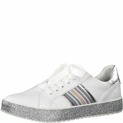 MARCO TOZZI Premio Fashion Sneaker Schuhe Low Top 2 23714 32 White Silver | eBay
