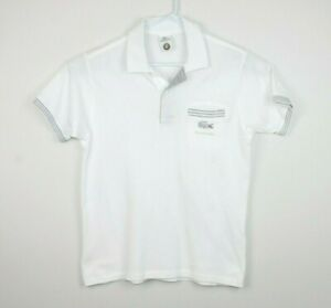 Lacoste-Roland-Garros-Rare-White-Polo-Shirt-Size-Men-039-s-3-Small