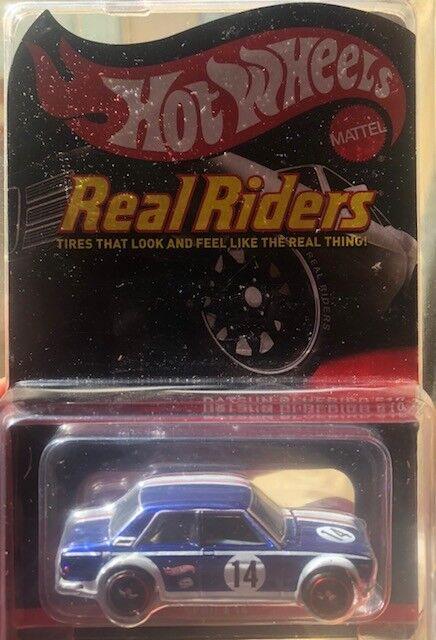 1 64 Hot Wheels Datsun bleubird 510 RLC - Real Riders 3 4 7000 made
