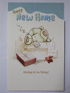 Wonderful cute bear colourful happy new home greeting card image is loading wonderful cute bear colourful happy new home greeting m4hsunfo