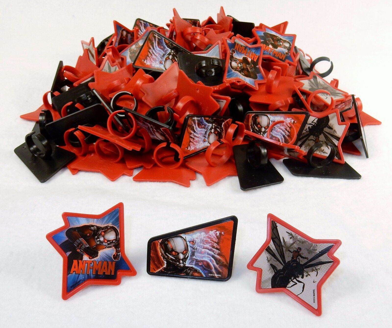 Cupcake Toppers, Marvel Avenger Rings, Ant Man 1728 Pcs  Party Favors, Grab Bags