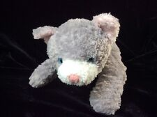 "Target Grey Cat Blue Eyes Pink Ears Plush Soft Toy Stuffed 9"""