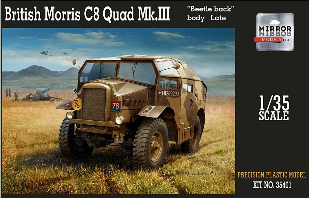 MIRROR MODELS 1 35 MORRIS C8 QUAD mk. III' SCARABEO POSTERIORE PRESTO CORPO '