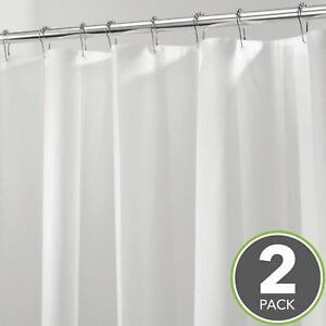 Image Is Loading HEAVY DUTY MILDEW FREE WATERPROOF SHOWER CURTAIN LINER