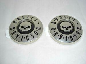 Harley Davidson Skull CVO Tankschilder Tankembleme rund 14100216 & 14100217