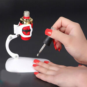 New Hand Free Nail Polish Bottle Holder Display Stand Tilt Clip Grip Tool Ebay