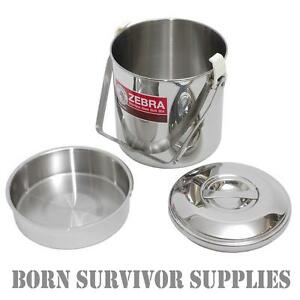 ZEBRA-BILLY-CAN-Loop-Handle-Stainless-Steel-Cooking-Pot-Cans-Mess-Tin-Pan-Stove