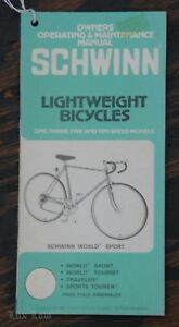 vintage schwinn lightweight bicycle owner s manual hang tag world 10 rh ebay com Schwinn Ranger 21 Speed Bike Schwinn Ranger 26 Mountain Bike