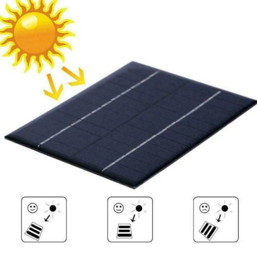 12V 2W Solar Panel Module DIY For Light Battery Cell Phone Toys Chargers O6W0