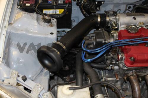 "3/"" inch wrinkle black air intake V Stack Honda civic acura integra b,d,h series"