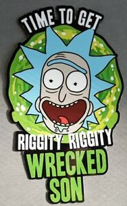 5-034-x-3-034-Time-To-Get-Riggity-Riggity-Wrecked-Son-Vinyl-Sticker