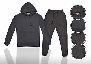 Men-039-s-Hoodie-Pullover-Fleece-amp-Jogger-Set-Pant-Gym-Jogging-Exercise-Training