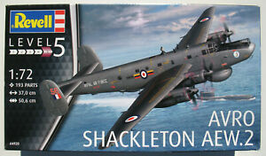 REVELL-04920-AVRO-SHACKLETON-AEW-2-1-72-Flugzeug-Modellbausatz-Model-Kit