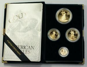 1994-US-Mint-American-Gold-Eagle-Set-Gem-Proof-Bullion-Coins-AGE-Box-amp-COA