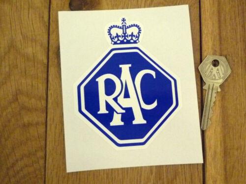 "RAC Old Style Car STICKER 4.5/"" Classic Morris Oxford Austin Mini Rover Bike BMC"