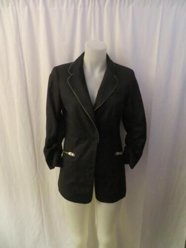 Manches 3 Taille Veste Blazer West Femme Noire S Ruched à Central 4 Park eWCrxBQdo