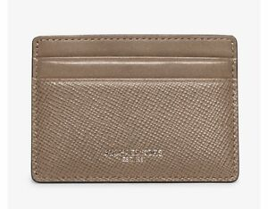superior quality 42025 ac7f9 Details about NEW BOX Michael Kors Men's Harrison Leather Card Case Holder  Wallet ~ Taupe $58