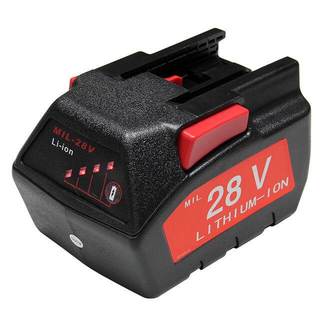 Refuelergy For MILWAUKEE 28V M28 V28 Power Tool Battery 48-11-2830 w LED Gauge