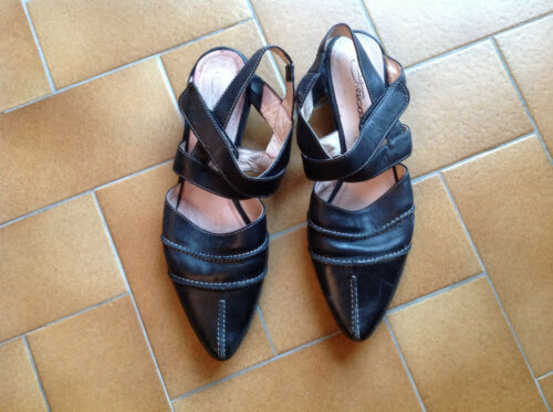 Chaussures Ouvertes Tout Straboski Cuir Noir 40 qaBa4gYwx