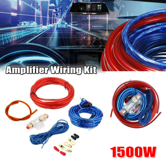 subs and amp wiring 8 gauge car audio subwoofer sub amplifier amp wiring kit power  amplifier amp wiring kit