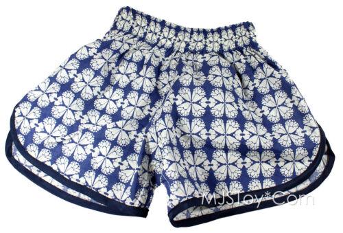 New Cool Fun Relaxing Baby Girl Summer Cotton Blue Flower Short Pants 2T 3T