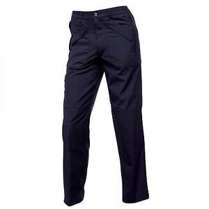 REGATTA-Hombre-Action-Ii-Pantalones-Azul-Marino-J170-Informal-Ropa-De-Trabajo