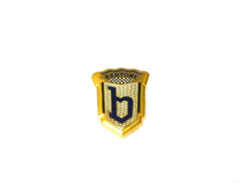 Fregio stemma logo ALFA ROMEO BERTONE metallo dorato 41x28 badge emblem escudo