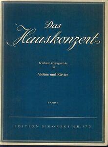 Das Hauskonzert - Band 3 - Violine und Klavier