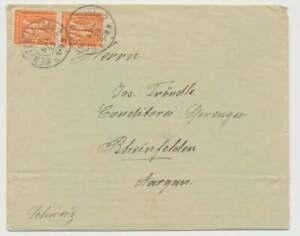 D.Reich Nr. 163 MEF (2) Auslands-Drucksache KEMPTEN 18.4.22 n. Schweiz (57458)