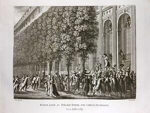 Camille-Desmoulins-en-1789-au-Palais-Royal-a-Paris-Rare-Gravure-Revolution