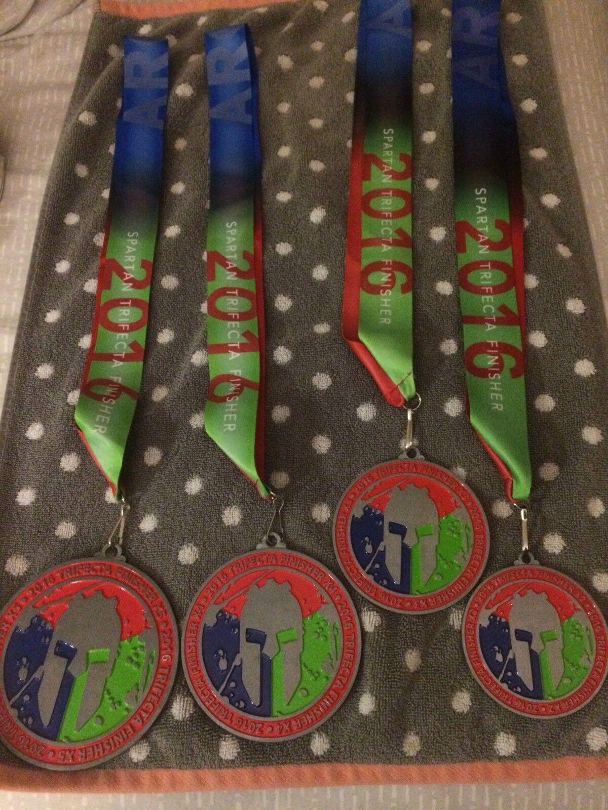 2016 Spartan Race trifecta Display Set x2 x 3 x4 x5 4 Medals New Never Worn