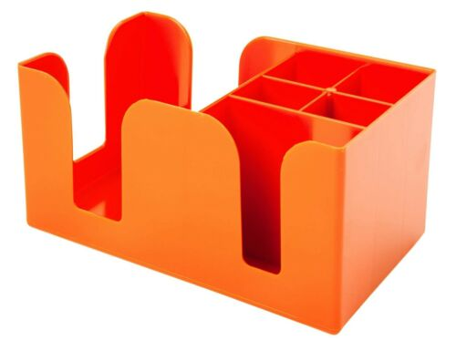 Orange Bar Tidy Caddy paille Agitateur Serviette Pub Bar Aide Rangement Condiment Holder