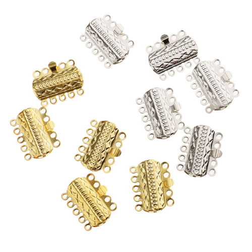 10pcs multi Strand Diapositive magnétique Tube Fermoirs Collier Jewelry Findings