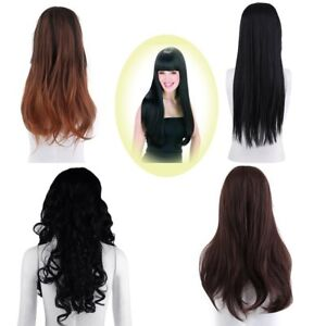 Lace-Wigs-Natural-Black-Loose-Wave-Curly-Wavy-Full-Hair-Long-Wig-Black-Women-BP